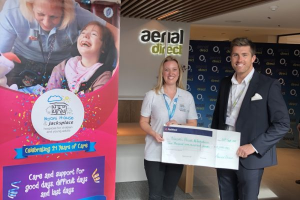 Aerial Direct giving back to the community.