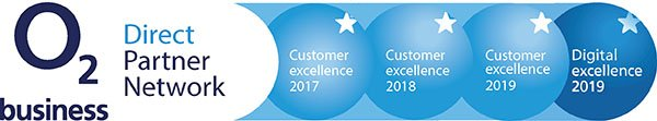 Winner of the O2 Customer and Digital Excellence Awards